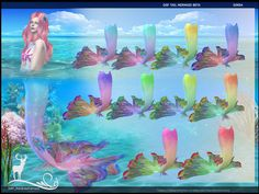 The sims 4 mermaid. You can give your mermaids a colorful look with this design, inspired by the Beta fish. Attention: Make sure that your sims do not wear boots. Sims 4 Mods, Sims 3, Sims 4 Game, Mermaid Tails, Mermaid Mermaid, Vintage Mermaid, Sims4 Clothes, Play Sims, Sims Community