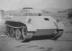 PzKpfw II Luchs with angled armor plates..test vehicle