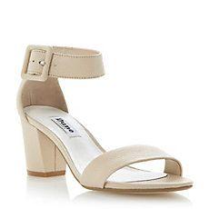 FRI - Buckled Ankle Strap Block Heel Sandal