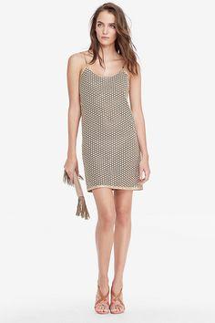 DVF Alvera Metallic Lace Slip Dress   Landing Pages by DVF