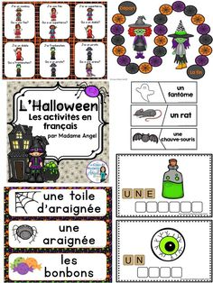 Les activités d'Halloween! Lots of fun literacy activities with a Halloween theme in French!
