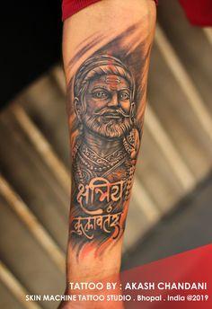 5edad873d3bf4 Chatrapati Shivaji Maharaj Tattoo Timelapse   by Akash Chandani   SKIN  MACHINE TATTOO STUDIO