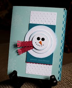 Sunshine, Smiles & Stamps= Lovin' Life: Stacked Snowman