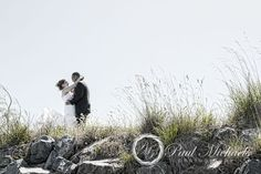 Bride and groom on Mana beach. PaulMichaels wedding photography Wellington http://www.paulmichaels.co.nz/