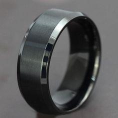 Gun Metal Titanium ring