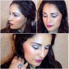 Maquillaje natural ojos champagne luna pigmento frost pearl labios ciruela