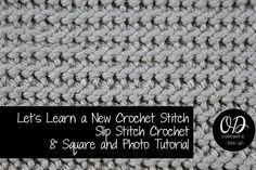 Slip Stitch Crochet Square ~ Oombawka Design