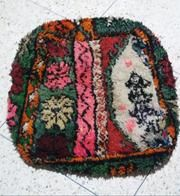 Vintage Boujaad Rug Pouf Moroccan Wedding Blanket, Moroccan Berber Rug, Floor Cushions, Poufs, Ottomans, Vintage Rugs, Textiles, Pure Products, Collection