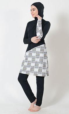 44c24df5ccaf Circle Print Swimwear Burkini- Final Sale Islamic Swimwear, Hijab Niqab, Muslim  Dress,