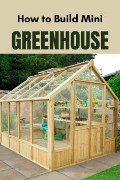 Whether you have many hours to spend out in the #garden or just a few minutes a day, having a #greenhouse is great for anyone who enjoys gardening. See how to Build One!