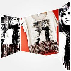 #camiseta com #franjas e #estampa linda! Precinho #Brechó ...