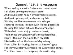 Sonnet 29 When 3dRose Alexis Design T-Shirts Poetry Shakespeare Sonnets in Disgrace with Fortune and Mens Eyes
