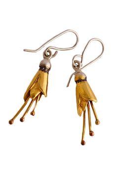 Kōwhai Earrings, A classic by NZ jewellery designer Martyn Milligan Jewellery Nz, Resin Jewelry, Jewelry Rings, Earrings Handmade, Handmade Jewelry, Jewelry Photography, Bohemian Jewelry, Diamond Earrings, Sculptures