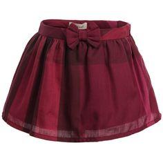 Dark Pink Check Cotton Skirt, Burberry, Girl