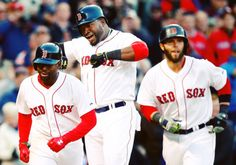 4/9/2014 | David Ortiz delivered yet another clutch hit when the Red Sox needed it, homering off Rangers reliever Neal Cotts in the 8th  (Photo by Jared Wickerham/Getty Images)