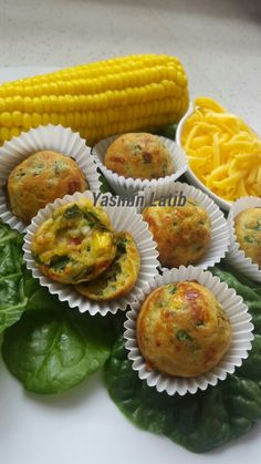 Spinach and corn pops