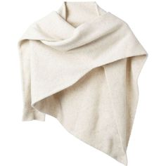 CHRISTOPHE LEMAIRE shaped scarf (9 400 UAH) ❤ liked on Polyvore featuring accessories, scarves, outerwear, vestes, wool shawl, wool scarves, white shawl, white scarves and lemaire