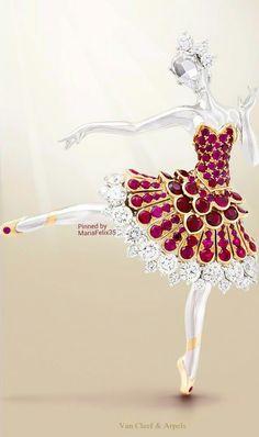 http://rubies.work/0763-blue-sapphire-earrings/ 0625-multi-gemstone-ring/ Van Cleef & Arpels Ballerina Brooch                                                                                                                                                      More