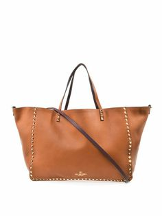 Rockstud reversible leather tote bag | Valentino | MATCHESFASH...