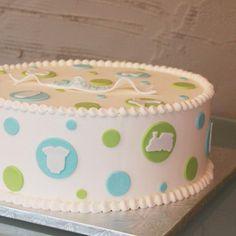 Dotty Baby Shower Cake
