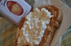 Peanut Butter Toast with Cottage Cheese