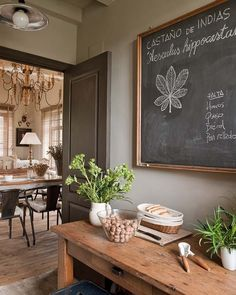 ♥ Love the colors. #gray #cream #white #green #kitchen #home #palette