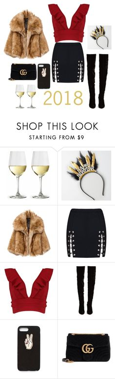 """2018!"" by styelsdirectioner ❤ liked on Polyvore featuring American Eagle Outfitters, Boohoo, Christian Louboutin, Nasty Gal and Gucci"