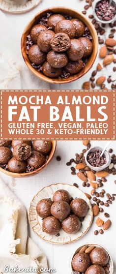 These Mocha Almond Fat Balls are chocolatey, rich, and full of healthy fats to help give you a little energy boost and keep you fueled. They're gluten-free, paleo, vegan, Whole30 and keto-friendly.