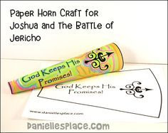 Joshua and the Battle of Jericho Horn Craft from www.daniellesplace.com
