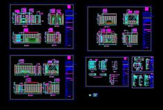 The five-star hotel architectural decoration full CAD drawings