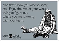 Free and Funny Fantasy Sports Ecard: And that's how you whoop some ass. Enjoy the rest of your week trying to figure out where you went wrong with your team. Create and send your own custom Fantasy Sports ecard. Fantasy Football Meme, Fantasy Football League, Philadelphia Eagles Football, Pittsburgh Steelers, Dallas Cowboys, Football Quotes, Football Humor, League Memes, Nfl Carolina Panthers