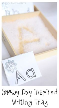 Snowy Day Inspired Writing Tray & Alphabet Cards F...
