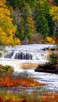 Lower Falls Of The Taquamenon River - Michigan