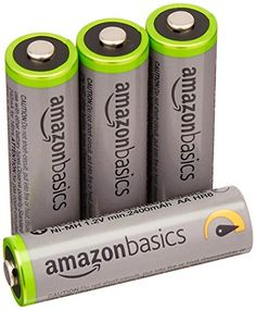 AmazonBasics AA HighCapacity Rechargeable Batteries 4Pack Precharged  Packaging May Vary *** Click for more Special Deals #SolarCharger