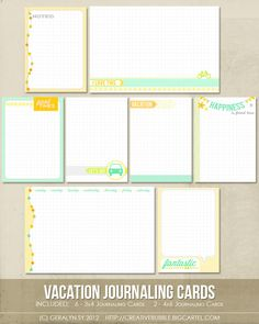 In a Creative Bubble Shoppe — *NEW* Vacation Journaling Cards (Digital)