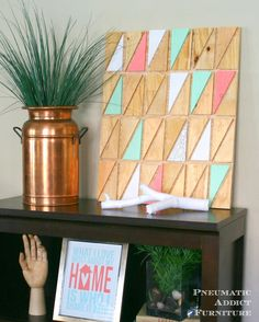 Pneumatic Addict Furniture: Easy Geometric Wall Art
