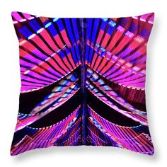 Interior #decor wall throw pillow for home, office and businesses with #pink colors, featuring the photograph Circus Tent by Judi Saunders.