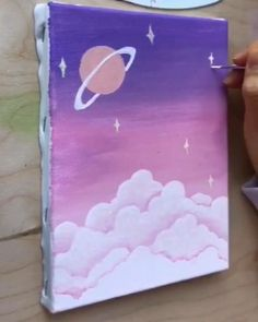 Small Canvas Paintings, Easy Canvas Art, Small Canvas Art, Mini Canvas Art, Easy Canvas Painting, Diy Painting, Art Sur Toile, Canvas Painting Tutorials, Art Drawings Sketches Simple