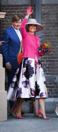Koningsdag 2016 in Zwolle. Koning Willem-Alexander en Koningin Máxima