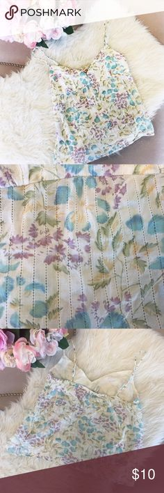 Hollister Floral Tank Cute hollister floral tank and In pretty good condition. Will be super cute for the summer. Hollister Tops Tank Tops