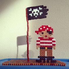 Pirate hama perler beads by  tamatek