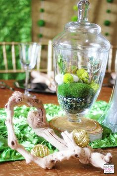 | Garden Glam Wedding featuring Terrariums | http://soiree-eventdesign.com/blog