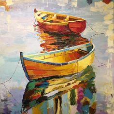 Artista   Arte Austral Sailboat Painting, Boat Art, Seascape Paintings, Oil Paintings, Acrylic Art, Unique Art, Watercolor Paintings, Canvas Art, Fine Art