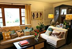 Shelley  Reed's Creative Cottage.  Lots of colors and textures.  ((minus the cat art))