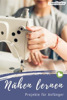 Simple sewing projects for beginners - ideas that save money and waste - Sewing for beginners: make cosmetic pads, gift bags, etc. yourself Sewing for beginners: make cosme - Knitting Needles, Free Knitting, Baby Knitting, Knitting Patterns, Knitting Bags, Knitting Stitches, Easy Knitting Projects, Sewing Projects For Beginners, Knitting For Beginners