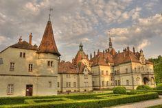 Палац графів Шенборнів. Schönborn castle was built by earl Buheym Schönborn in 1890 - 1895, Ukraine