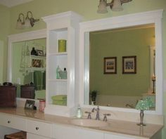 Way To Tackle The Whole Mirror Thing Home Talk Adding Frame Bathroom