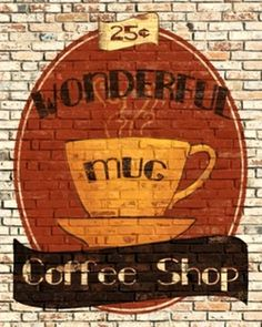 ☕ Coffee Shop art ☕ Brick graphic  © Art.com Inc
