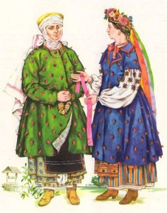 Outfit of Kyiv City women and girls (XVIII c), Ukraine, from Iryna