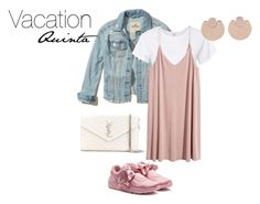Untitled #276 by jo-scrapbook on Polyvore featuring polyvore, fashion, style, H&M, RE/DONE, Hollister Co., Puma, Yves Saint Laurent, Vita Fede and clothing